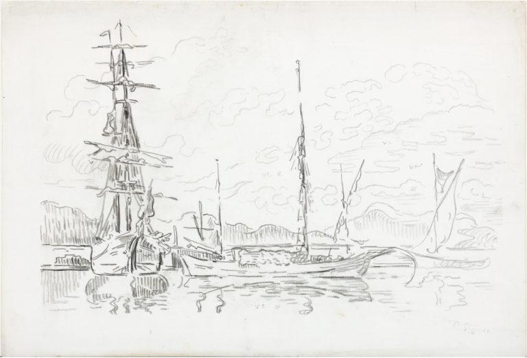 Signac St Tropez Bateaux au port
